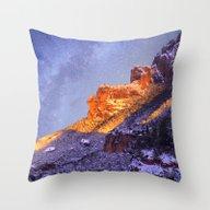 Montserrat Mountains Throw Pillow