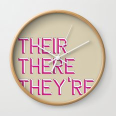 Their, There, They're Wall Clock