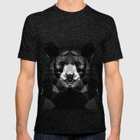 Bear - Black Geo Animal Series Mens Fitted Tee Tri-Black SMALL