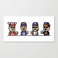 8-Bit: Superfans Canvas Print