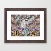 Poseidon's Inter-Dimension  Framed Art Print