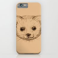 iPhone Cases featuring Baby Mongoose Sketch by Naomi Shingler