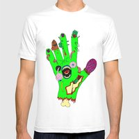 Zombie Hand Mens Fitted Tee White SMALL