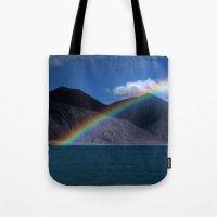 The Rainbow At Pangong! Tote Bag