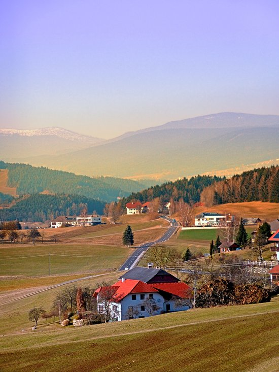 Country road in amazing panorama | landscape photography Art Print