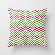Graphic Holiday Pattern Throw Pillow