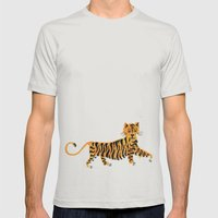 Tigre Mens Fitted Tee Silver SMALL