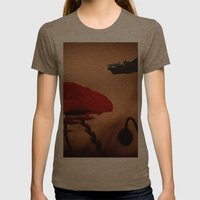Avro Lancaster Memorial Womens Fitted Tee Tri-Coffee SMALL