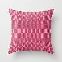 Dark Pink Spotty Pattern Throw Pillow