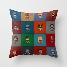 Screaming Heroes Throw Pillow