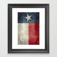Texas State Flag, Vertic… Framed Art Print