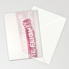 remove before flight! Stationery Cards