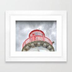 Moody Lighthouse Framed Art Print