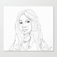 1line - Valentina Canvas Print