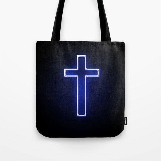 Metallic Cross Tote Bag
