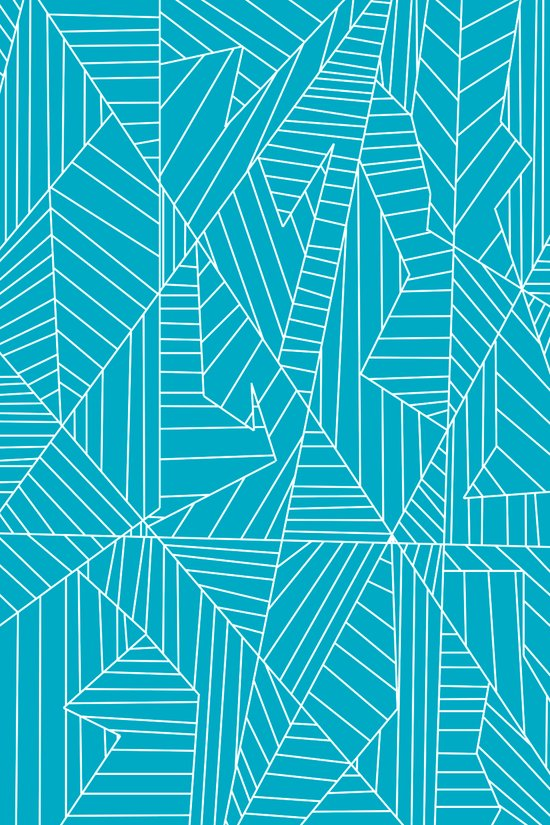 Lines, Shapes, and Planes Blue Art Print