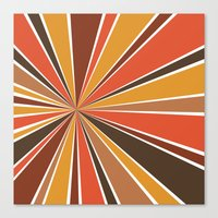 70's Star Burst Canvas Print