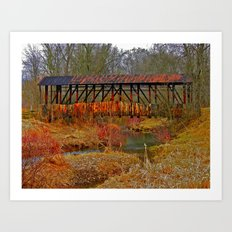 Cuppert's Covered Bridge Art Print