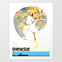 Art Print featuring SYNTHESIZE by Olive Primo Design + Illustration