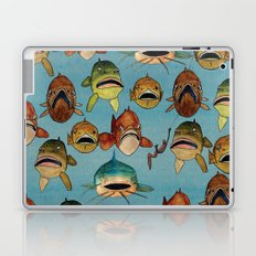 fishing with worms Laptop & iPad Skin