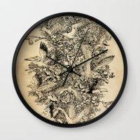 Blooming Flight Wall Clock