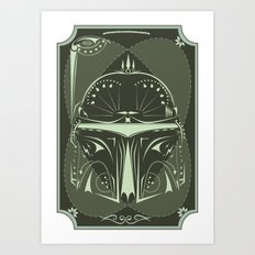 Boba Fett on Acid Art Print
