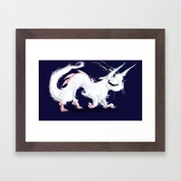 Dragon-Cat Framed Art Print