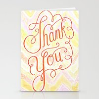 Thank You - Hand Lettere… Stationery Cards
