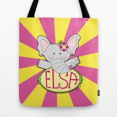 ELSA The elephant  - Fun, sweet, creative and colorful, original,digital children illustration Tote Bag