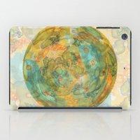 watercolor globe iPad Case