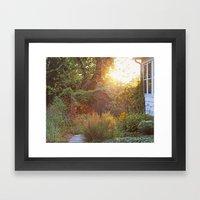 spring garden  Framed Art Print