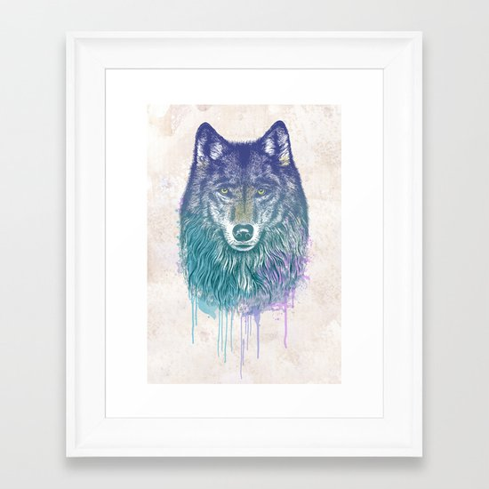 I Dream of Wolf Framed Art Print