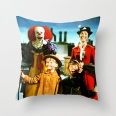 PENNYWISE IN MARY POPPINS Throw Pillow