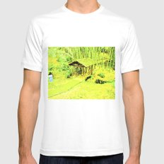 Green living eye. Mens Fitted Tee White SMALL
