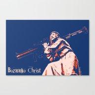 Canvas Print featuring Bazooka Christ by Lensebender