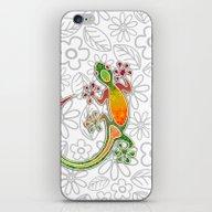 Gecko Floral Tribal Art iPhone & iPod Skin