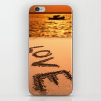Love Written In The Sand iPhone & iPod Skin