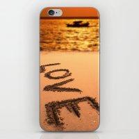 Love Written in the Sand iPhone & iPod Skin