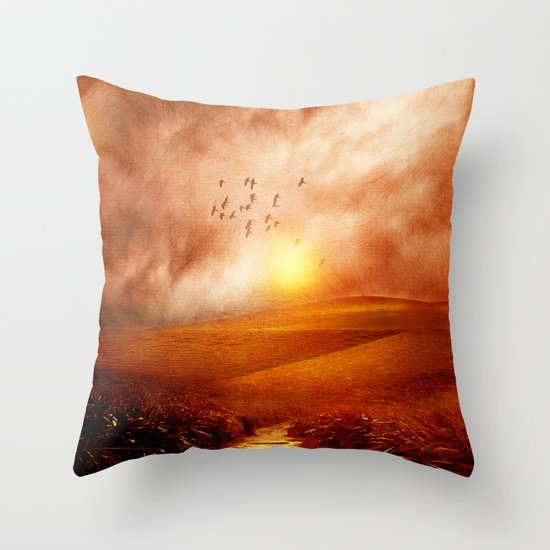 when the darkness, shine Throw Pillow