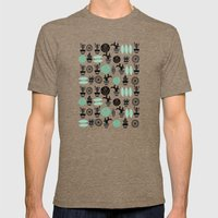 Cactus Pattern Mens Fitted Tee Tri-Coffee SMALL