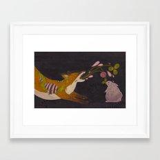 Fox and Rabbit Framed Art Print