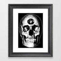 Third Eye Bones (Black A… Framed Art Print