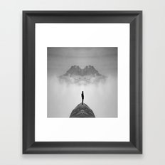 Lone on a Mountain Framed Art Print