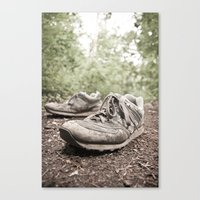 Shoes For A Decade, Not … Canvas Print
