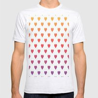 POP heART Mens Fitted Tee Ash Grey SMALL