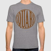 dont be a square Mens Fitted Tee Athletic Grey SMALL