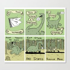 Dinosaur Poem Canvas Print