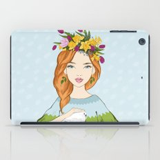 Spring girl iPad Case