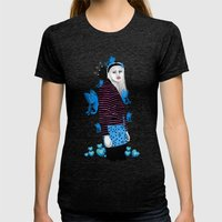 Butterflies Womens Fitted Tee Tri-Black SMALL