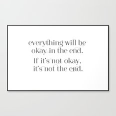 Inspiration to live by Canvas Print